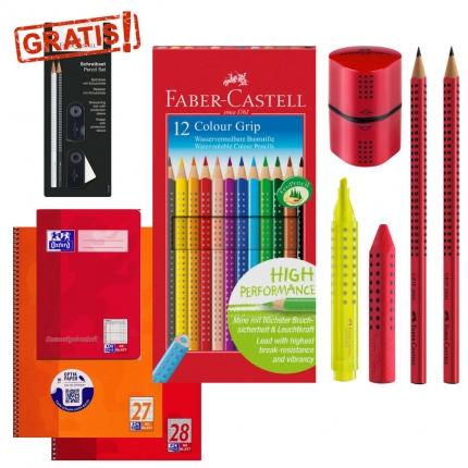 Schulset Grundschule rot mit kostenlosem Sparkle-Set
