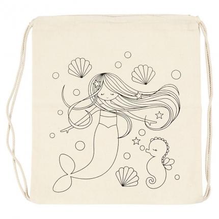 Stoffbeutel aus Baumwolle, Meerjungfrau