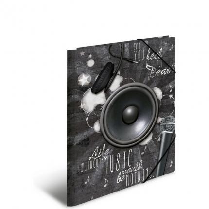 Kunststoffmappe A3, PP, Musik