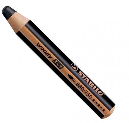 BB Buntstifte für Kleinkinder: Stabilo woody schwarz - 750