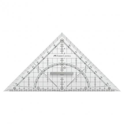 Grip Geometriedreieck groß, Faber-Castell, 22 cm
