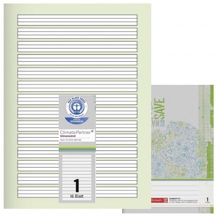 Schulhefte Blauer Engel: Lineatur 1, A4