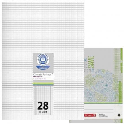 Schulhefte Blauer Engel: Lineatur 28, A4