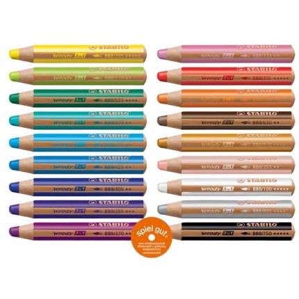 Buntstifte für Kleinkinder: Stabilo woody in 18 Farben