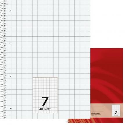 Schulblock Lineatur 7, DIN A4, Brunnen