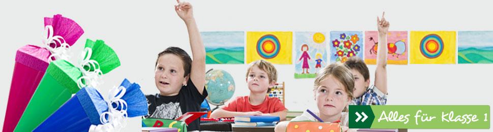 Zum Schulbedarf für die erste Klasse