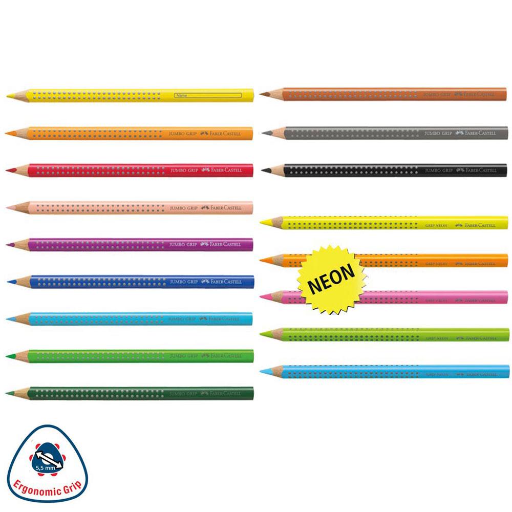 Jumbo Grip Buntstifte 17 Einzelfarben - schulstart.de