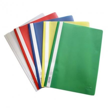 10 Plastikschnellhefter, 2 x 5 Farben