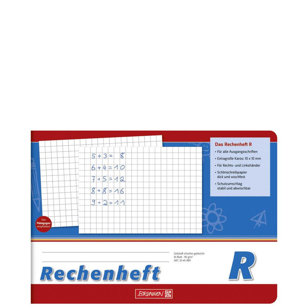 Brunnen Rechenheft A5 quer Lineatur R