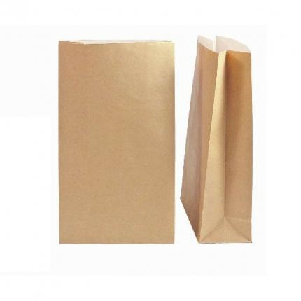 Kraftpapiertüte 16 x 26 x 8 cm, weiß gefüttert