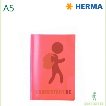 Transparenter Heftumschlag, A5 rot, Herma