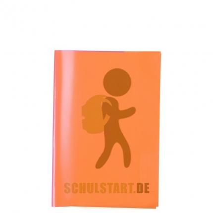 Transparenter Heftumschlag, A5 orange, Herma