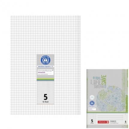 Recyclinghefte A5, Lineatur 5, Brunnen
