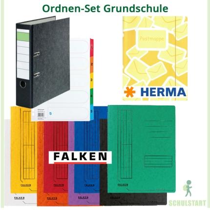 Ordnen-Set Grundschule: 8 Marken-Schnellhefter, Postmappe, Ordner und Register
