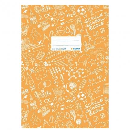 Hefteinband A4, orange gemustert, Herma Schoolydoo