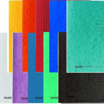 Colorspan-Schnellhefter von Falken im Set mit 10 Farben