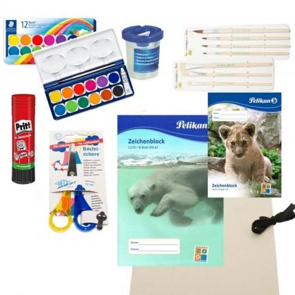 Komplett-Paket Basteln für Linkshänder: Bastelmaterialien für die Schule