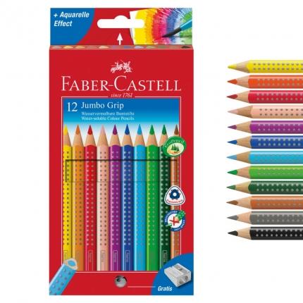 Faber-Castell Jumbo Grip 12er Pack inkl. Spitzer
