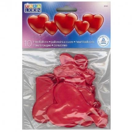 Herzluftballons, 10 Stück, 2 Größen