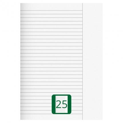 Großes Schulheft, Lineatur 25, A4