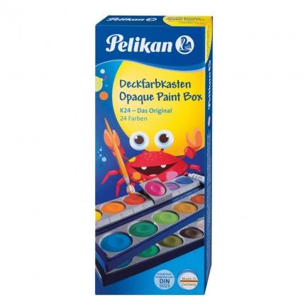 Pelikan Farbkasten 24 Farben + Deckweiß