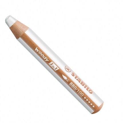 BB Buntstifte für Kleinkinder: Stabilo woody weiß - 100