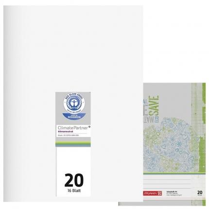 Schulhefte Blauer Engel: Lineatur 20, A4