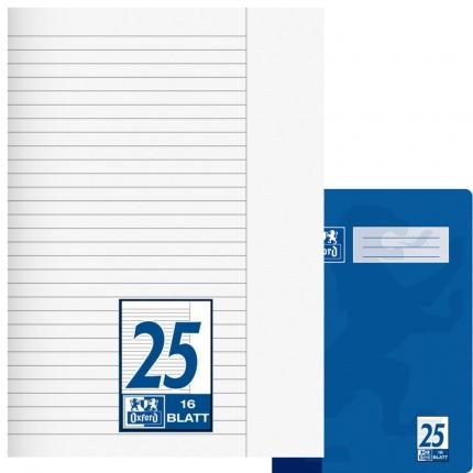 Oxford Heft Lineatur 25, liniert mit Rand, A4