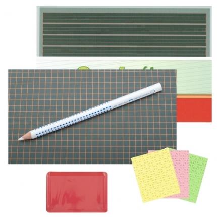 Scolaflex Tafel L1A, dicker Tafelstift und Zubehör