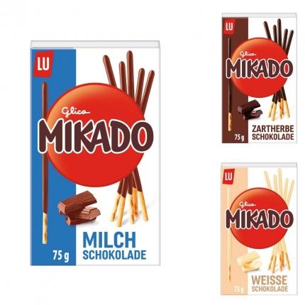 Mikado Sticks, verschiedene Sorten