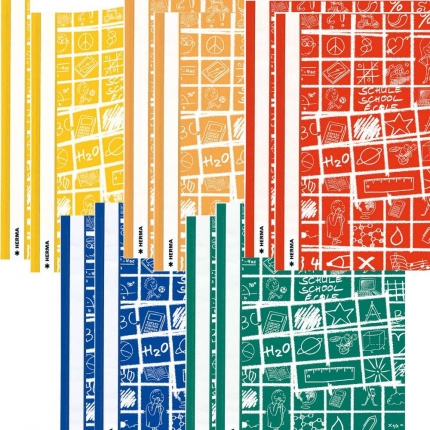 Schoolydoo Schnellhefter von Herma, 2 x 5 Farben