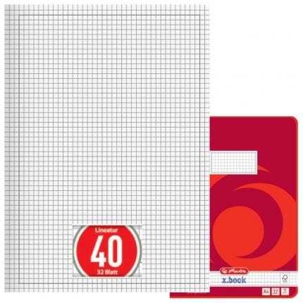 Doppelheft DIN A4, Lineatur 40, Herlitz
