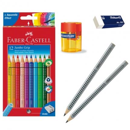 XL-Schreibset 1. Klasse: Schreiblernstifte, dicke Buntstifte und mehr