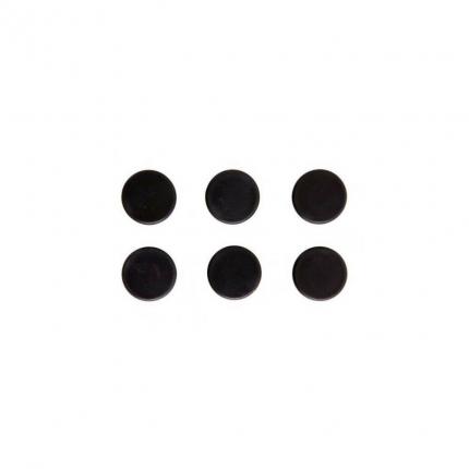 Magnet rund, 6 Stück, schwarz, Ø24mm