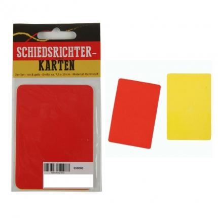 Schiedsrichterkarten, 2er-Set rot/gelb