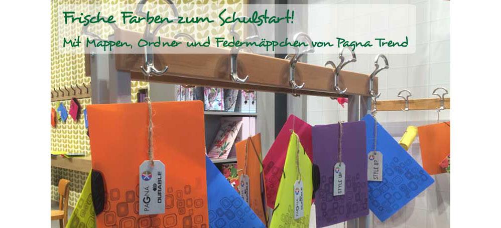 Frische Farben zum Schulstart! Mit Mappen, Ordner und Federmäppchen von Pagna Trend