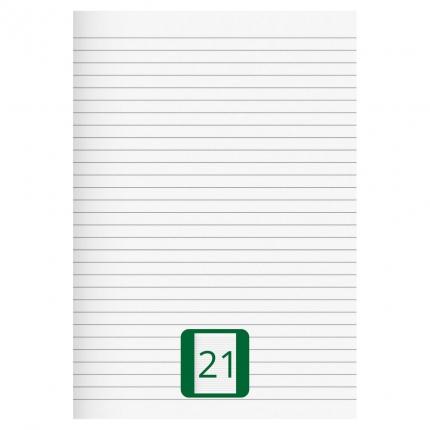 Großes Schulheft, Lineatur 21, A4