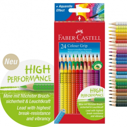 Faber-Castell Colour Grip Buntstifte, 24er Pack