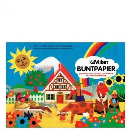 Glanzpapier, 12 Blatt, gummiert