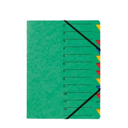 Ordnungsmappe EASY 12 Fächer, grün