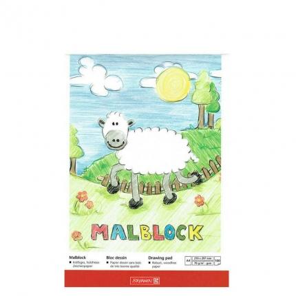 Malblock A4, 100 Blatt, Brunnen
