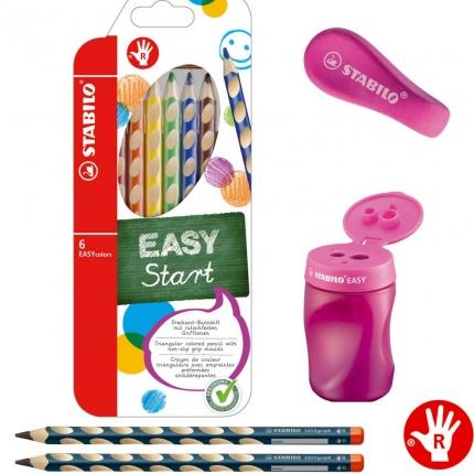 Stabilo Schreibset 1. Klasse, pink: Schreiblernbleistifte, dicke Buntstifte