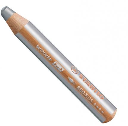 BB Buntstifte für Kleinkinder: Stabilo woody silber - 805