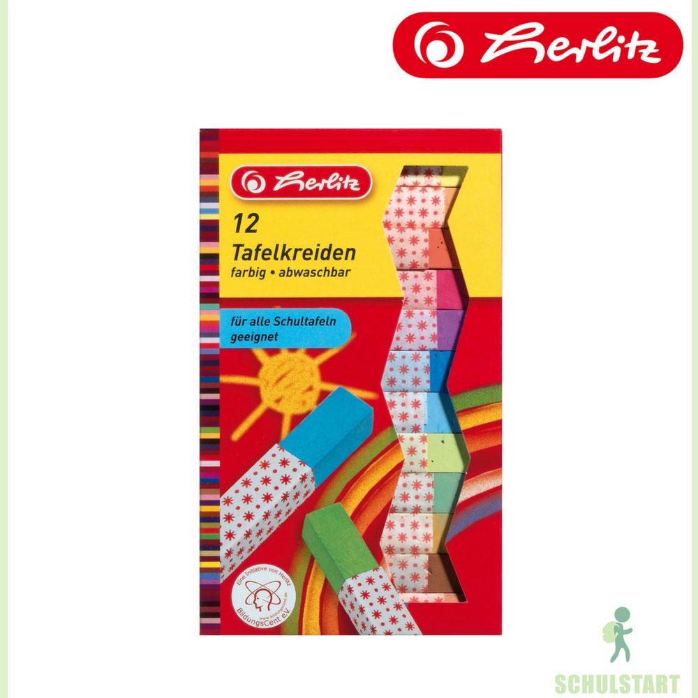 Bunte Kreide, 12 Stück, Herlitz | Schreibgeräte | Lehrerbedarf ...