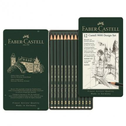 Faber-Castell Bleistift Set Design, 5B bis 5H