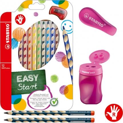Stabilo Schreibset 1. Klasse XL, pink: Schreiblernbleistifte, dicke Buntstifte