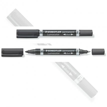 Lumocolor Duo, permanent schwarz, Staedtler