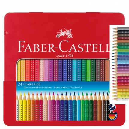 Faber-Castell Colour Grip 24 Farben im Metalletui