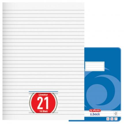 Heft Lineatur 21, liniert, A4, Herlitz