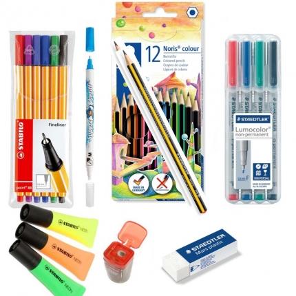 Stifte-Set ab 5. Klasse: Viele Stifte, Textmarker, Tintenlöscher etc.